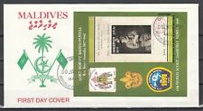Maldives, Scott cat. 1597. Scout Jamboree, IMPERF s/sheet. First day cover.
