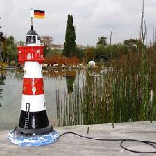 NEU LEUCHTTURM ROTER SAND 75 cm mit DOPPELLICHT Garten Deko MEER maritim Nordsee