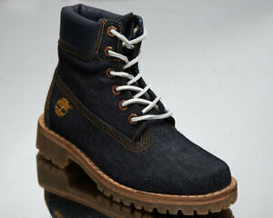 Timberland LTD Fabric 6 Inch Boots Women's Denim Navy Casual Lifestyle Shoes