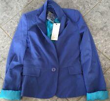 Womens Size 6 Purple Blue Coat Blazer Dance Jazz Jacket