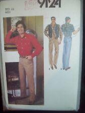Simplicity Pattern 9124 Men's Reversible Vest, Shirt & Pants Size 44 UncutFF NOS