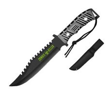 """13"""" Zombie Killer Tactical Knife Serrated 440 Stainless Steel Blade w/ Sheath GR"""