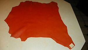 Orange Goat Leather Hide  23 x 26  (H1)