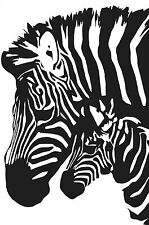 Zebra and baby side by side  vinyl wall decal