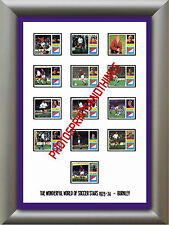 BURNLEY - 1973-74 - REPRO STICKERS A3 POSTER PRINT