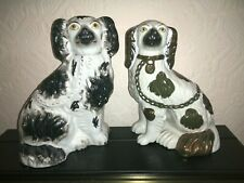 """Antique Staffordshire """"Wally Dogs"""" unmatched pair 9-10"""""""