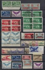 Switzerland Page of Used Airmail Singles, Pairs and Blocks of 4