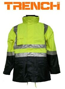 Hi-Vis Class D/N Two Tone Jacket With Mesh Lining