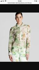 Ted baker Dancing Leaves bird butterfly Blouse Shirt