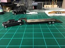 HO scale 1/87 custom Goose Neck Trailer painted and weathered