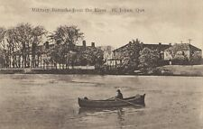 Military Barracks from River ST. JOHNS Quebec Canada 1930 Intern. Fine Arts Co.