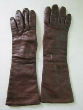 Vintage Italian leather Gloves Women Small Montgomery Ward Forearm Gloves Vtg