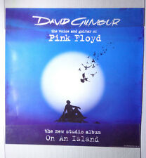 "PINK FLOYD'S DAVID GILMOUR-ON AN ISLAND poster promotional 2006-23x23"" DFGH"