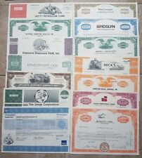 40 Stock Certificates PLUS SPECIAL BONUS - Great Wholesale or Collectors Lot!