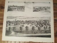 1823 WV MAP Parsons Huttonsvile Shinnston Hedgesville Stanaford Star City HUGE