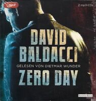 David Baldacci - Zero Day 2 MP3 CDs Thriller Hörbuch Krimi * ungekürzt! *