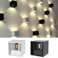 Modern LED Wall Light Up Down Cube Sconce Lighting Lamp IP65 12W Waterproof