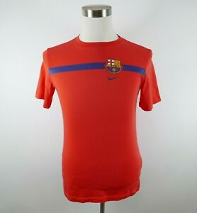 FCB Barcelona Boys Girls SS Crew Neck Bright Red Soccer T Shirt by Nike Youth XL
