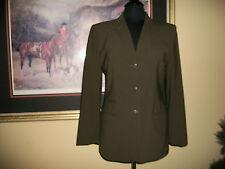 Lauren Ralph Lauren 8 Hunter Green Equestrian Horse Button Blazer Hacking Jacket
