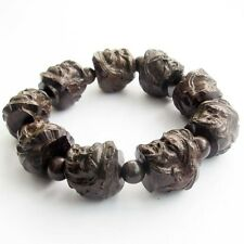 Wood Lucky Guan Gong Guangong Tibet Buddhist Prayer Beads Mala Bracelet