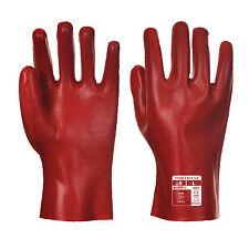 PortWest Unisexe PVC Gant Rouge taille XL A427