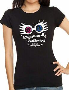 HARRY POTTER: LUNA LOVEGOOD Black or Purple, Unisex or Ladies fitted T-shirt