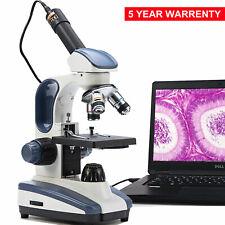 Microscopio Compuesto SWIFT 40X-1000X Luz de Doble de laboratorio con 1.3MP cámara Digital USB