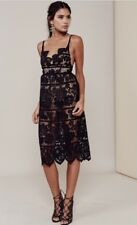 NWT For Love And Lemons Gianna Midi Dress Black Lace Straps Size XS $290