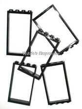 Lego DOOR FRAME 1X4X6, BLACK, 60596 Lot of 5, New