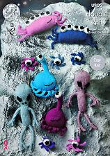 Knitting pattern soddisfare gli stranieri parte due STUFFED GIOCATTOLI modello DK KING COLE UFO2