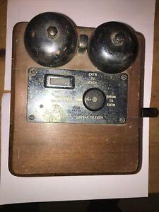 Vintage Telephone Bellbox With Handle