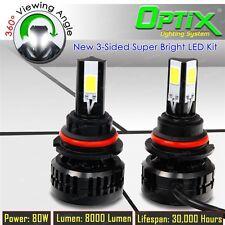 LED 80W 8000LM 6000K 6K White Kit Head Light Dual Hi / Lo - 9007 HB5 Pair (A)