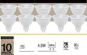 Luce Bella 10 Pack LED Cool White Bulbs Globes 350 Lumen 4.5W 80% Energy Saving