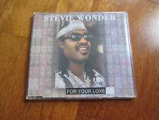 "STEVIE WONDER For Your Love CD CDS 1995 MOTOWN SINGLE NO LP MC 7"""