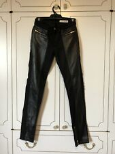 Sass And Bide Leather Denim Jeans