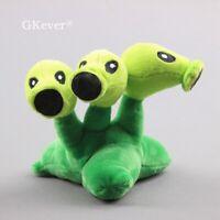 Plants vs Zombies Plush Toys Threepeater Stuffed Plushies Figure 6'' Teddy Cute