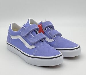 VANS Old Skool V - Purple Pale Iris True White - Kid's Youth Size 3 Skate Shoes