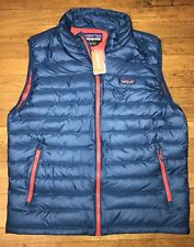 Patagonia Down Sweater Vest Big Sur Blue Men's Large Brand New NWT