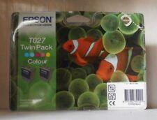 2 x Epson T027 Tinte Color für Stylus Photo 810 830 830U 925 935  Twin Pack