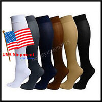 (6 Pairs) Compression Socks Stockings Graduated Support Men's Women's (S-XL)