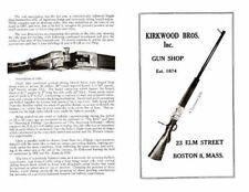 Kirkwood Bros. Gun Shop c1920 Catalog