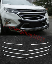 5X ABS Chrome Front Center Grille Cover Trim For Chevrolet Equinox 2017 2018