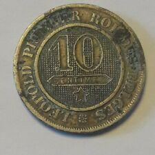 10 cent 1863  LEOPOLD I * Belgique Belgïe KM# 22, LA# BFM-32