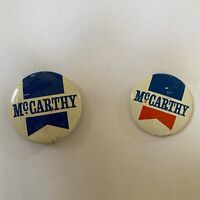 Lot Of 2 Eugene McCarthy Pins Political 1968 Presidential Election Democrat 60s