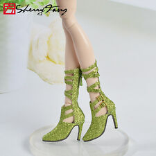 "Tonner 18.5"" New Vinyl/Resin Evangeline Ghastly Green Boots Shoes sherry 7EGS22"