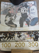 Pittsburgh Penguins Art Print Oct 8th 2008 vs Toronto Maple Leafs Crosby Malkin