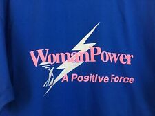 Vintage Woman Power Tee Feminist Shirt Graphic Tee Single Stitch