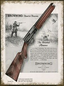 """Browning Finest in Firearms AD Metal Sign 9"""" x 12"""""""