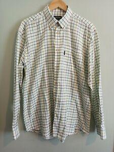 Beretta Classic Men's Check Pattern Button Down Shirt XL