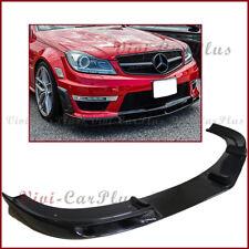 Carbon Fiber V Type Front Bumper Lip For 12-14 W204 C204 C63AMG Sedan Coupe Only